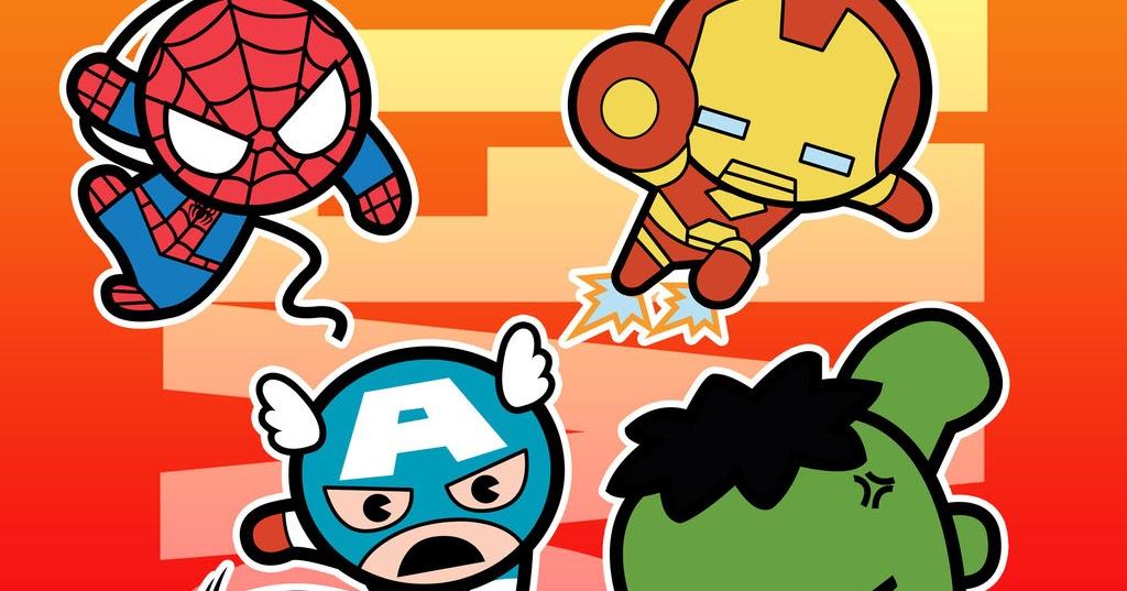 chibi marvel superheroes