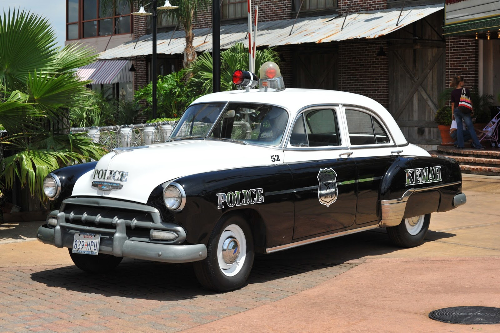 cause cops care old police car in kemah texas. Black Bedroom Furniture Sets. Home Design Ideas