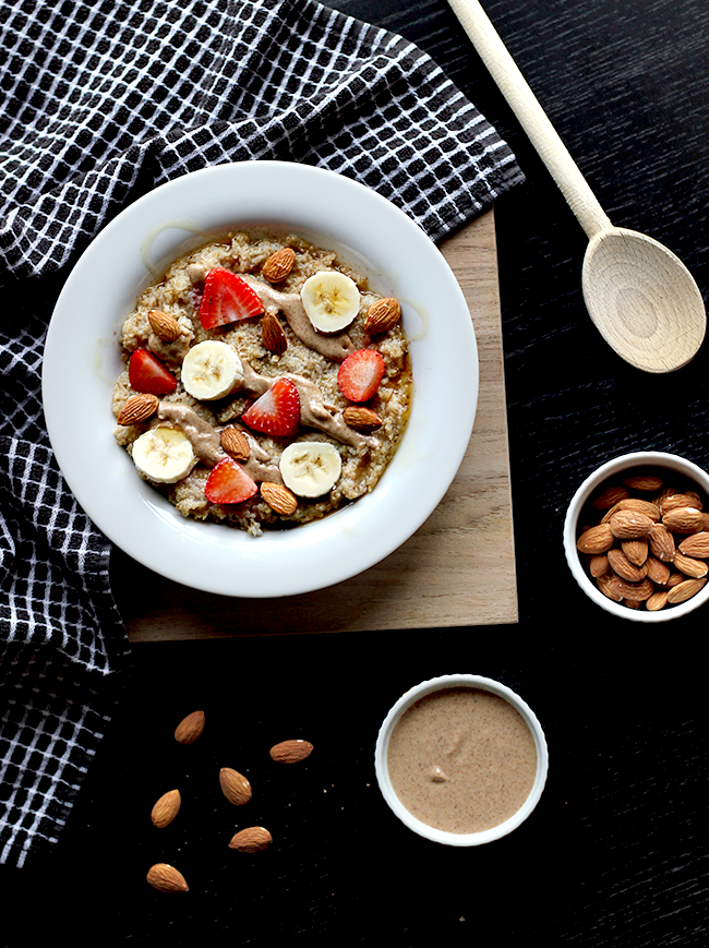 Almond Butter Maple Oatmeal