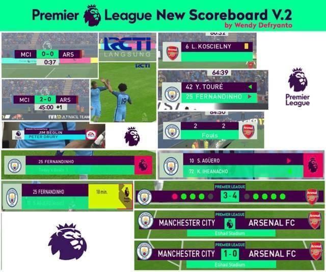 Premier League Scoreboard PES 2017