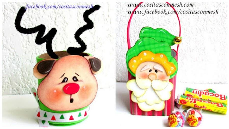 manualidades-navideñas-foami-reciclando