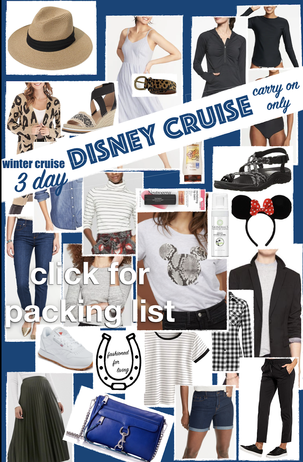 3 day disney cruise packing list - carry on luggage only