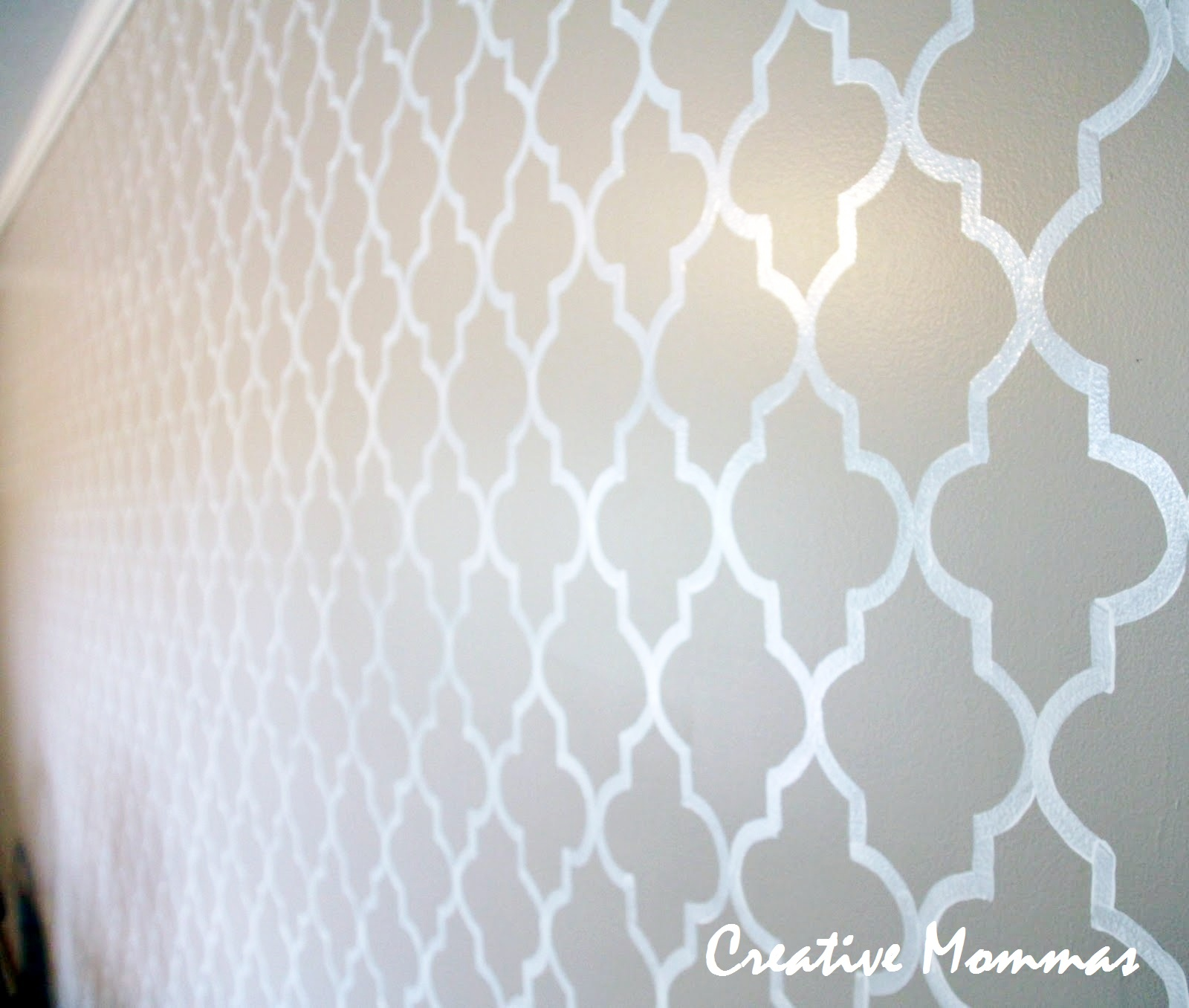 Creative mommas stenciled wall for Paint templates for walls
