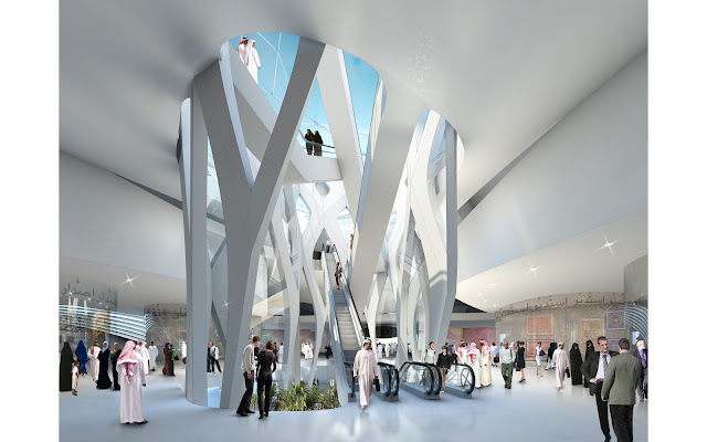 Photo of interiors and main lobby of new museum building