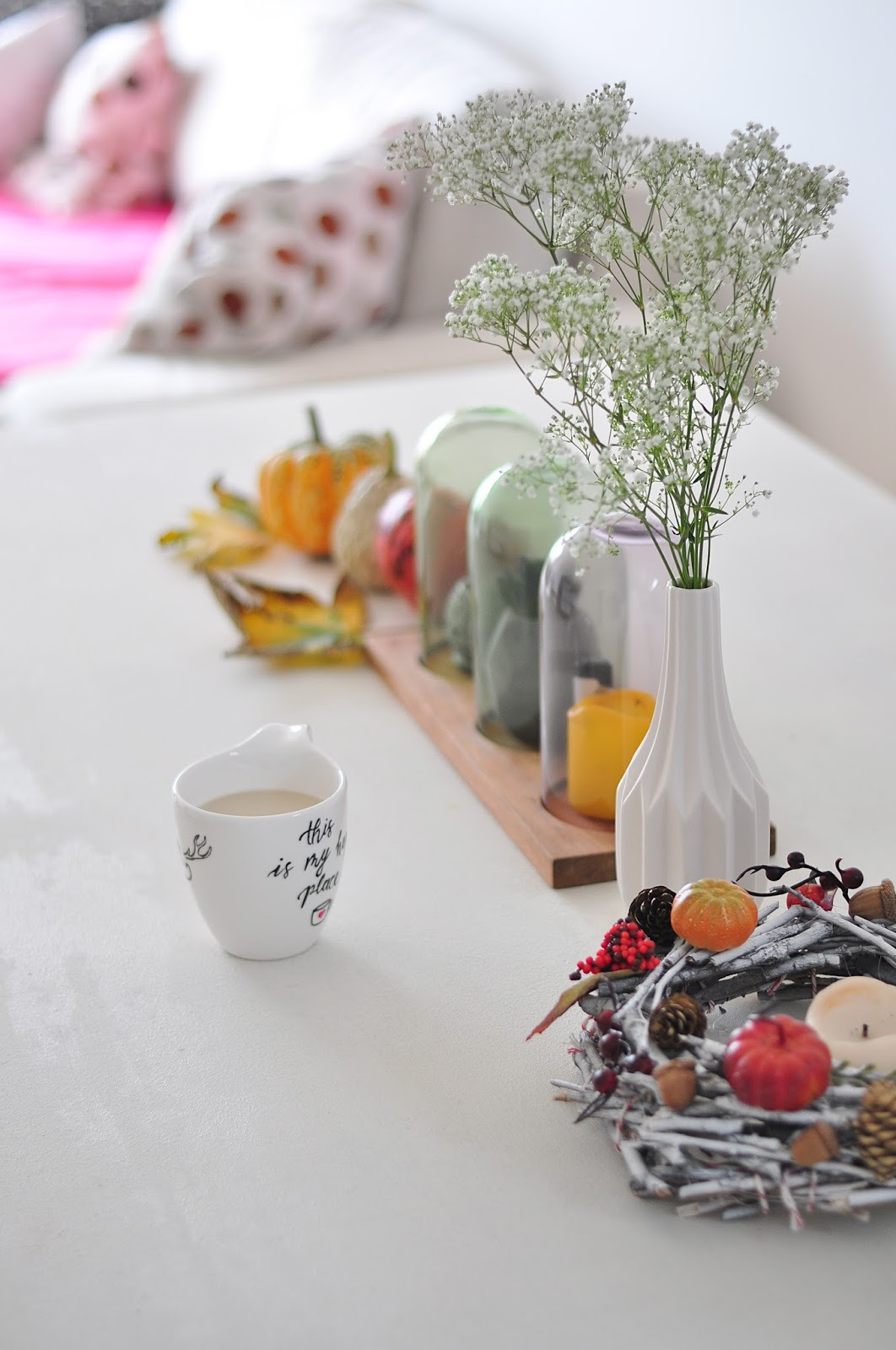 interior, white table, DIY, scandinavian style, living room table