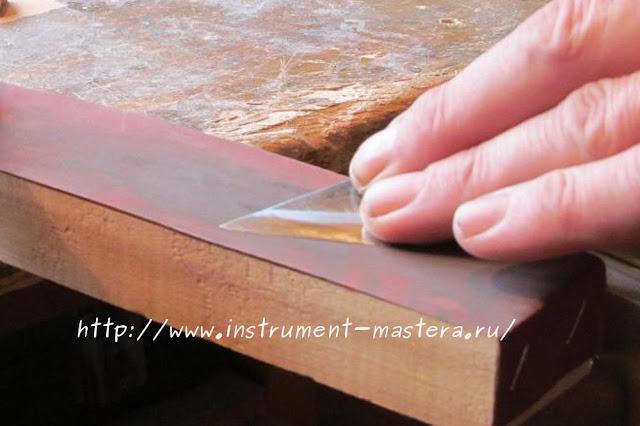 Брусок для заточки инструмента из наждачки
