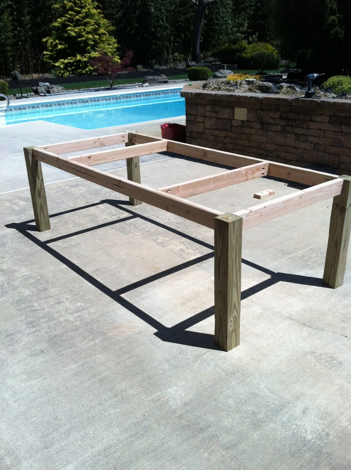 Inspiring Wood Patio Table Diy - Patio Design #395