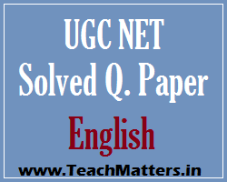 image : UGC NET Solved Paper English Dec. 2015 @ TeachMatters