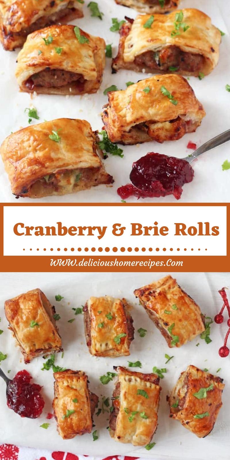 Cranberry & Brie Rolls
