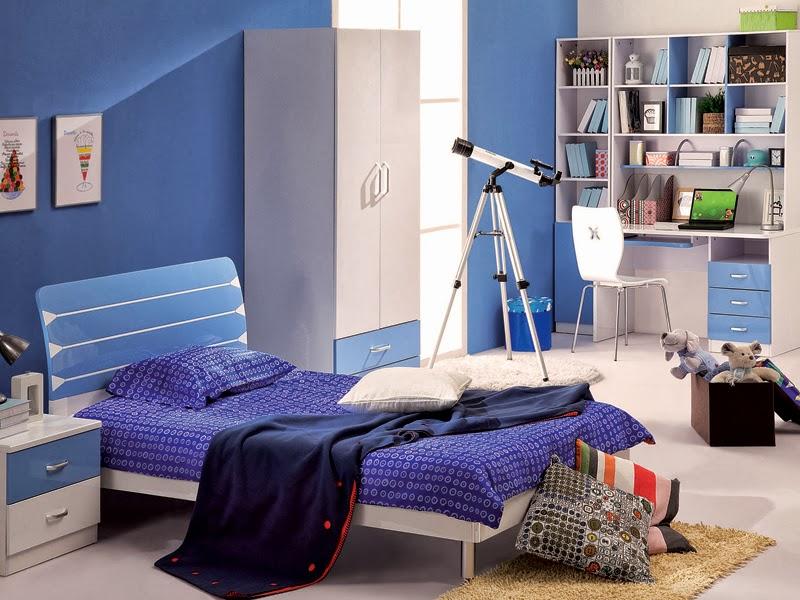 Dormitorio azul para jovencitos adolescentes ideas para decorar dormitorios - Habitacion juvenil azul ...