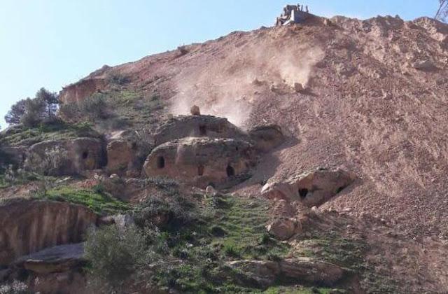 Roadworks threaten Jordan's ancient caves near Jerash