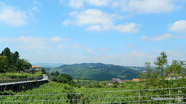 Vista para as montanhas na Freguesia de Fridão, em Amarante