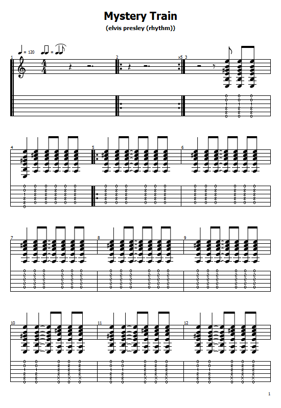 Mystery Train Tabs Elvis Presley - How To Play Mystery Train On Guitar Tabs & Sheet Online