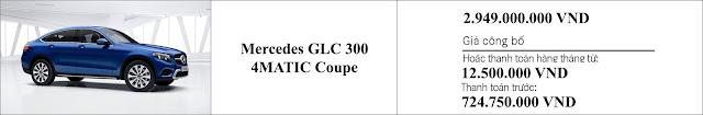 Giá xe Mercedes GLC 300 4MATIC Coupe 2019 tại Mercedes Trường Chinh
