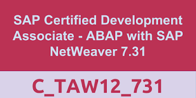 C_TAW12_731, SAP ABAP Tutorials, SAP ABAP Materials, SAP ABAP Certifications