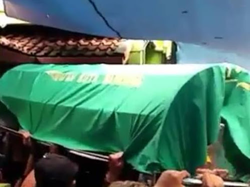 Pemakaman Ricko Andrean bobotoh Persib
