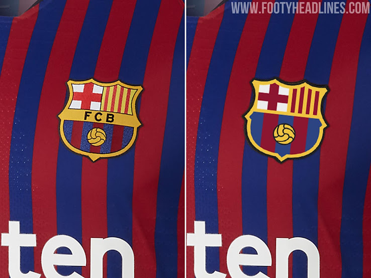 70d51f562 REVEALED  How the New Barcelona Crest Looks Like on the Kit - Footy ...