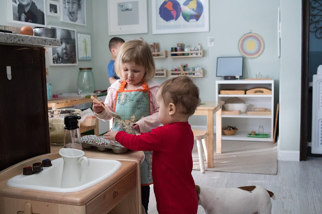 Why doesn't Montessori stop at the doors of the classroom? Thoughts on why we use Montessori at home.