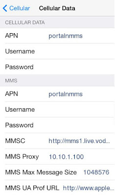 Vodafone India APN Settings for iPhone