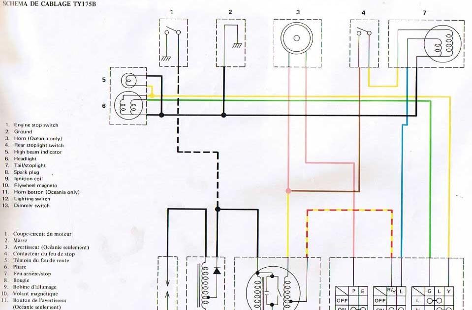yamaha dt wiring diagram image dt 175 wiring diagram dt auto wiring diagram schematic on 1978 yamaha dt 175 wiring diagram