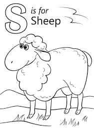 Ss For Sheep Coloring Pages Alphabets