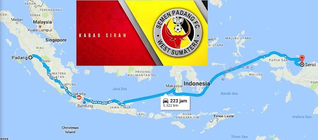 Bertandang Ke Serui, Ini Jarak Tempuh Dan Biaya Yang Harus Dikeluarkan Semen Padang FC