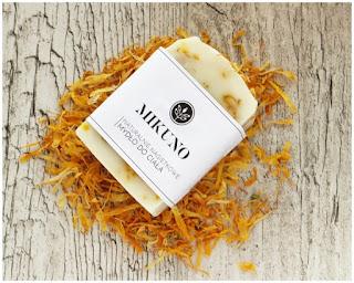 Mikuno Naturalne mydło do ciała z maceratem i kwiatami nagietka www.mikuno.pl