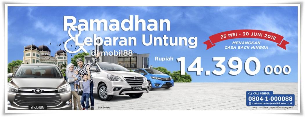 Promo Ramadan dan Lebaran Untung dari Mobil88
