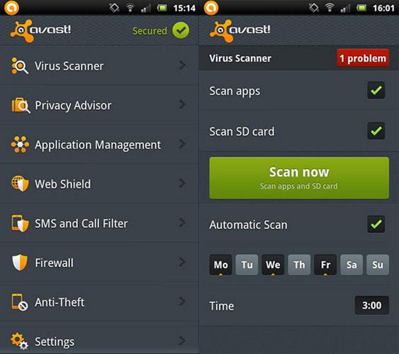 Avast Mobile Security Zoner Antivirus Free