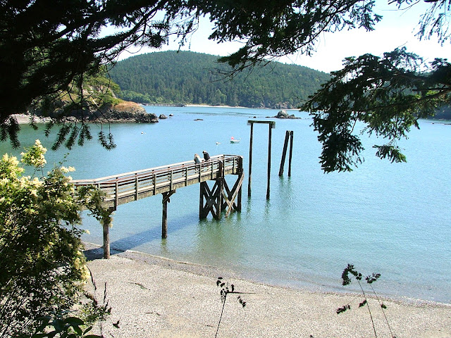 Sharpe cove float in Burroughs Bay at Deception Pass