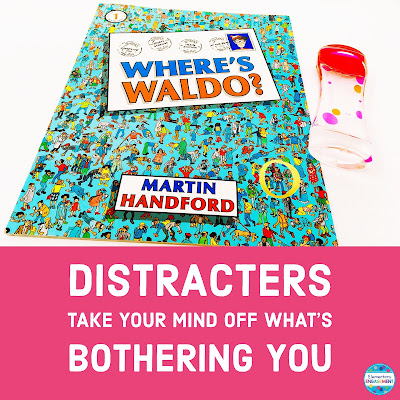 Distracters to add to a calm down bin
