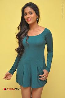 Telugu Actress Prasanthi Stills in Green Short Dress at Swachh Hyderabad Cricket Press Meet  0004.JPG