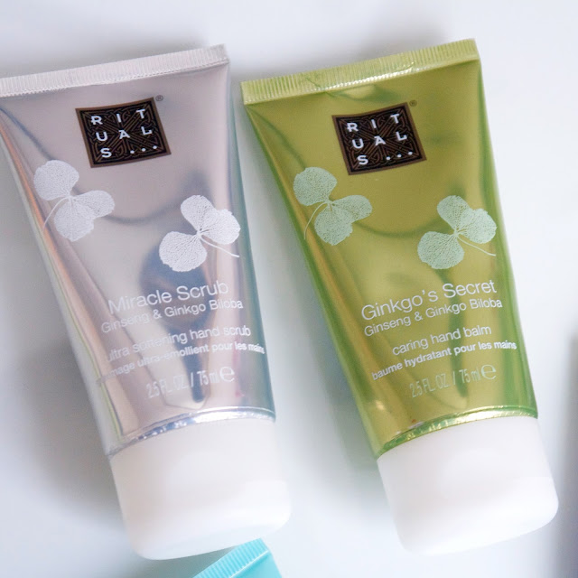 Ritual Miracle scrub and Ginkgo´s secret hand cream.