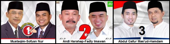 Tiga pasang calon Bupati dan wakil Bupati Kabupaten Penajam Paser Utara 2018
