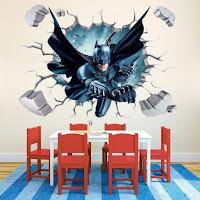 Vinilos de Super Héroes para decorar las paredes de la habitación de los niños BATMAN