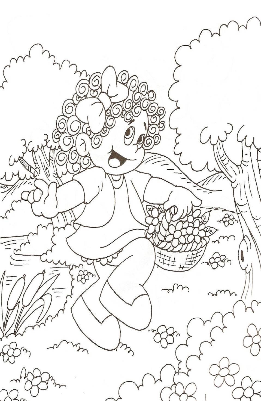 Banco De Atividades Desenho Para Colorir Natureza E Primavera