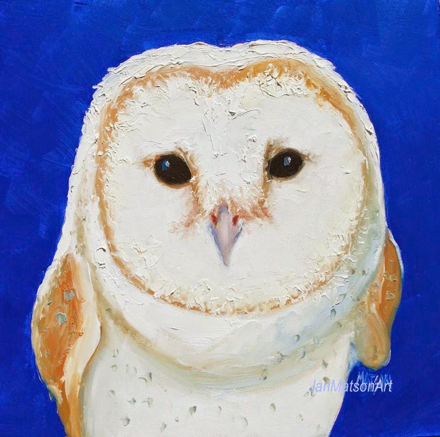 jan matson etsy art owl oil painting on etsy art