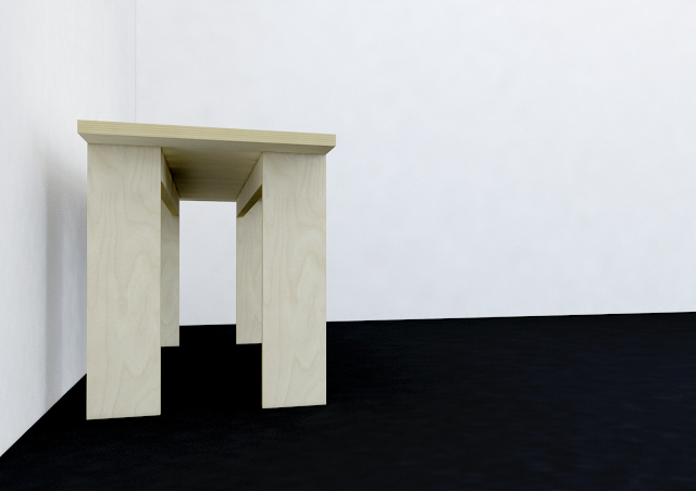 Andres Gonzalez Gil banco contrachapado plywood bench AH HA mueble furniture