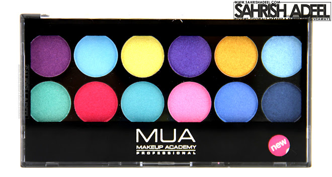 12 Shade Poptastic Palette by MUA - Makeup Academy - Review & Swatches