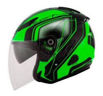 Harga Helm KYT Superfluo Green