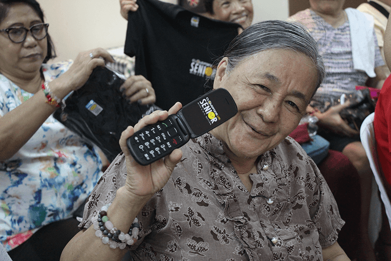 Cloudfone Distributed Senior Phones With S.O.S Button To Senior Patients