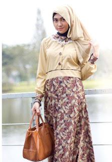 Baju Atasan Batik Muslim