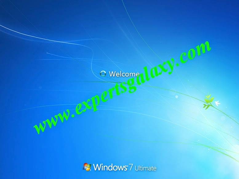 Welcome Screen After Windows 7 Installation