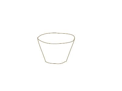 アイコン 「紅茶」 (作: 塚原 美樹) ~ カップ本体を描く