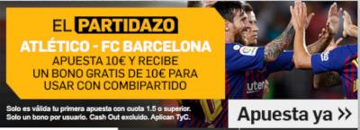 betfair promocion Atletico vs Barcelona 24 noviembre