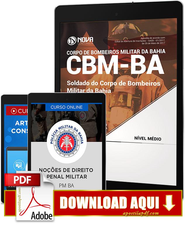 Apostila CBM BA 2017 PDF Download Soldado Bombeiro Polícia Militar da Bahia