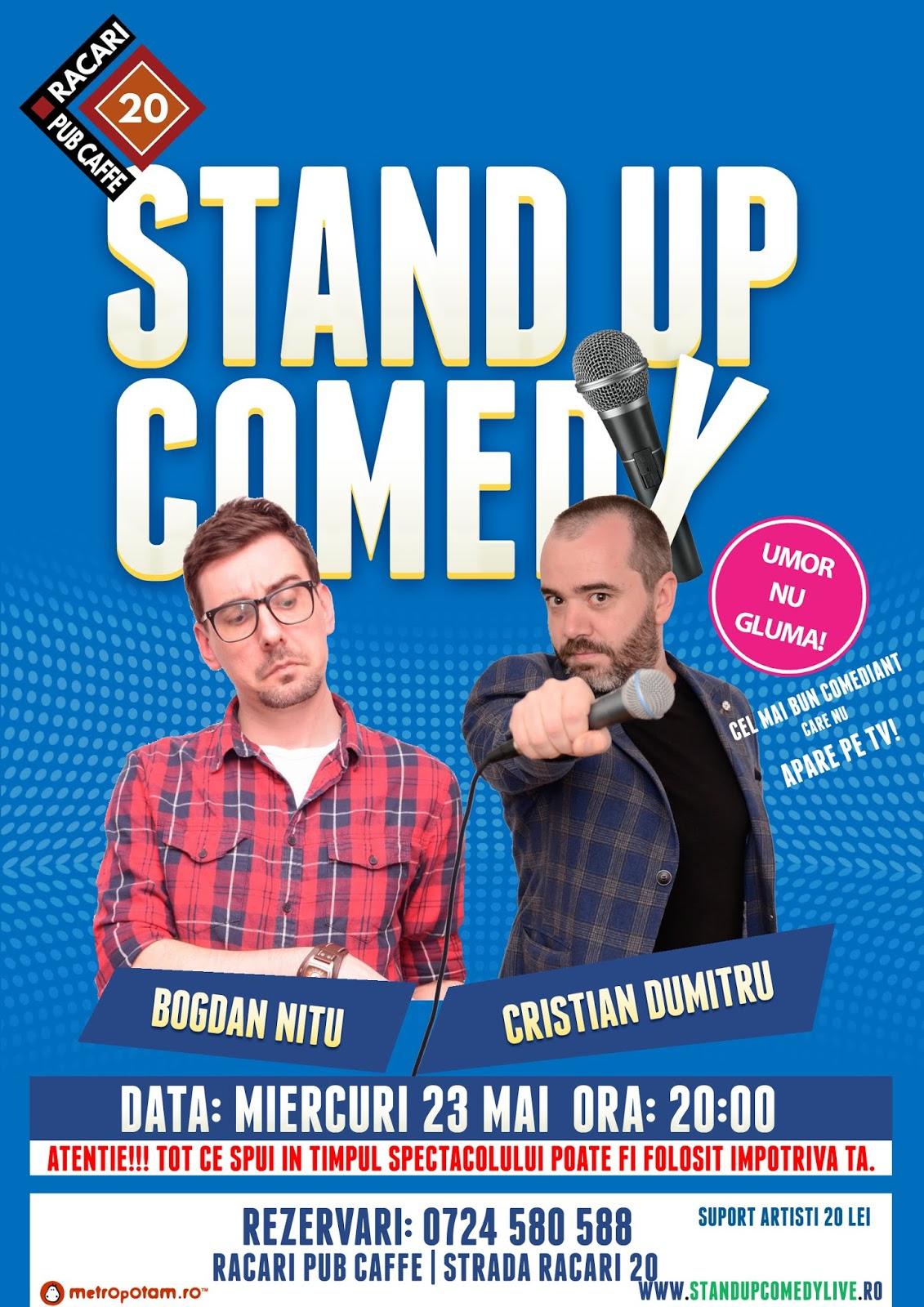 Stand-Up Comedy Bucuresti Miercuri 23 Mai