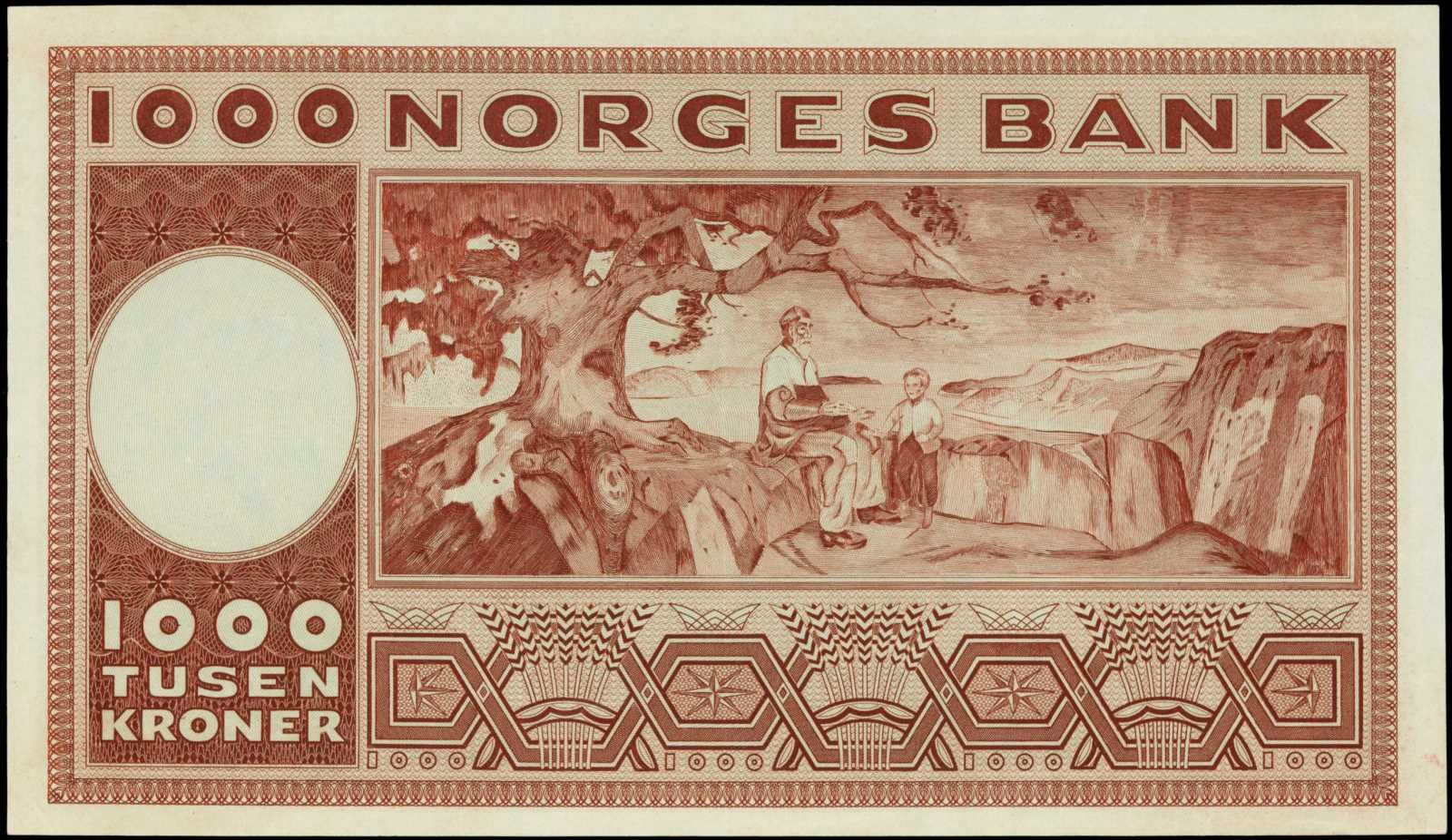 Norwegian 1000 kroner note Edvard Munch