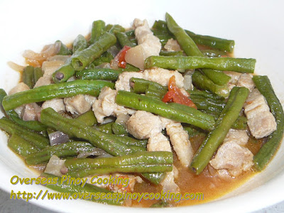 Ginisang Sitaw, Sautéed String Beans.