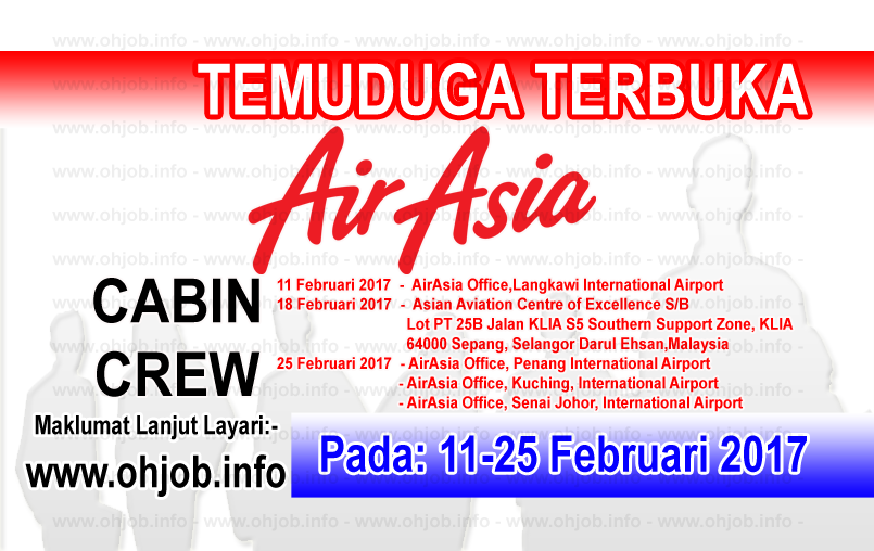 Jawatan Kerja Kosong Cabin Crew Air Asia logo www.ohjob.info februari 2017